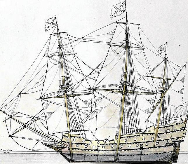 Galeón del siglo XVI
