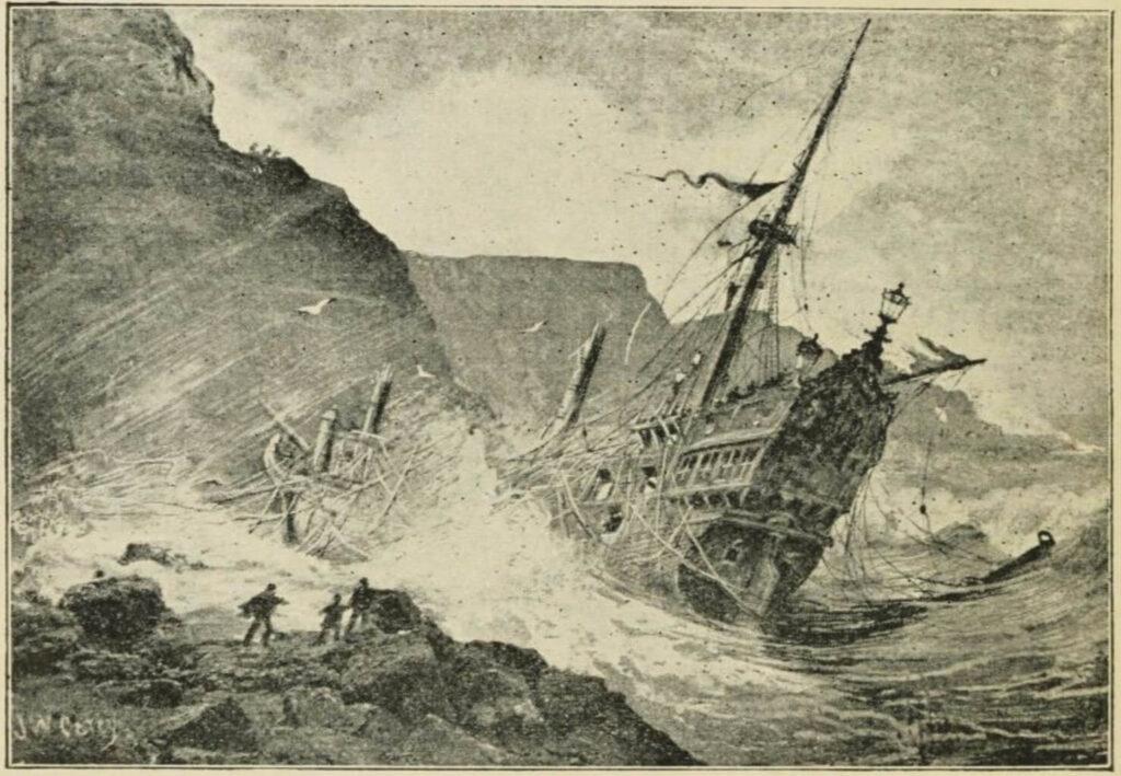 Naufragio de galeón de la Armada Invencible